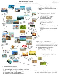 Environmental Island teaching worksheet