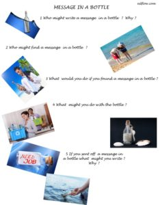 Message in a bottle story telling questionnaire