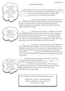 Narrative essay transitions exercise