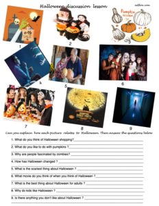 Halloween discussion lesson