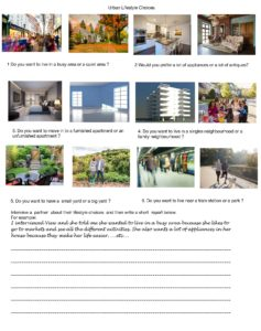 Urban lifestyle choices questionnaire