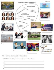Academic and business vocabulary exercises for talking about people and social behavior.