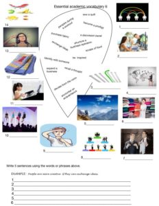 Academic vocabulary exercises for a miscellaneous collection of words related to various aspects of corporate or academic life.