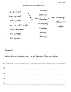 Elementary exercise for teaching days of the week