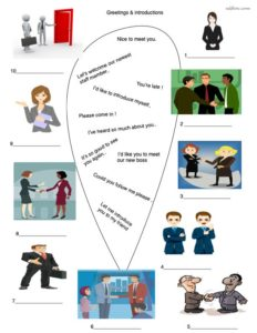 greeting-introductions-listening/speaking and vocabulary-worksheet