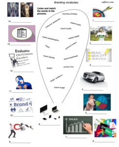 Vocabulary and listening exercise for company branding